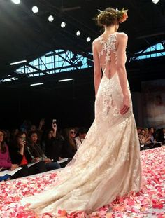 Love open back wedding dresses!