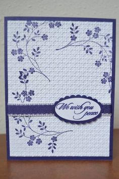 Sympathy Card by WausauSue - Cards and Paper Crafts at Splitcoaststampers