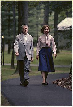 Jimmy Carter and Rosalynn Carter at Camp David, American Presidents, Us Presidents, Georgie, Camp David, Jimmy Carter, Former President, Special People, Family History, Libraries