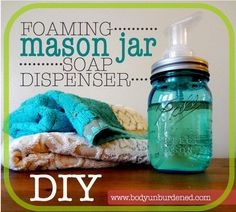 Mason Jar Soap Dispenser. This nason jar soap dispenser is a economic and easy present. It is very practical and useful. http://hative.com/creative-diy-birthday-gifts/