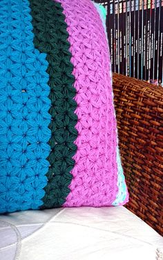 Pillow cover crochet PATTERN jasmine star stitch cushion case
