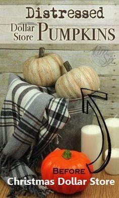 Master Bedroom Decorating Concepts - DIY Crown Molding Set Up These Are Dollar Store Pumpkins Unbelievable Distressed And Aged With Paint, The Old Orange Styrofoam Pumpkins Are Transformed Into Rustic Distressed Farmhouse Style Pumpkins Brilliant Thanksgiving Crafts, Thanksgiving Decorations, Harvest Decorations, Seasonal Decor, Rustic Thanksgiving Decor, Fall Porch Decorations, Thanksgiving Celebration, Holiday Decor, Wedding Decorations