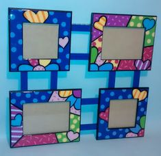 GALERIA ARTE Y DISEÑO & MADEKIDS: PORTARETRATOS FAMILIAR EN ESTILO BRITTO Baby Art Crafts, Wall Decor Crafts, Frame Crafts, Diy Arts And Crafts, Crafts For Kids, Paper Crafts, Diy Crafts, Craft Frames, Boarder Designs