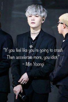 bts quotes If you feel like youre gonna crash, get - quotes Bts Suga, Min Yoongi Bts, Bts Lyrics Quotes, Bts Qoutes, Idiot Quotes, Bts Wallpaper Lyrics, Ikon Wallpaper, Emoji Wallpaper, Wallpaper Desktop