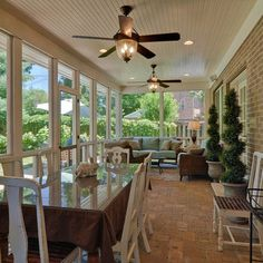 THIS IS HOW I'D LIKE TO HAVE THE SUNROOM SECTIONED OFF - THE DINING AREA AND SITTING AREA. Screened In Porch Design, Pictures, Remodel, Decor and Ideas - page 8