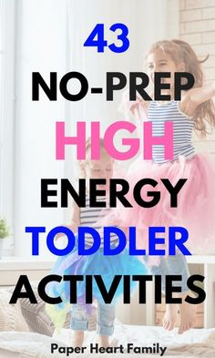 Active Toddler Activities- This is an awesome list of no-prep toddler activities and games. Full of fun, indoor physical activities for your 2 or 3 year old.