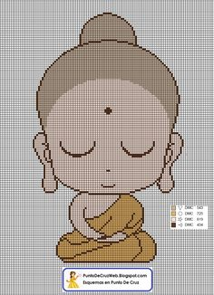 Niño Buda en Punto de cruz