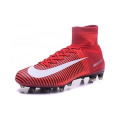 Caliente Nike Mercurial Superfly V AG-Pro Rojo Blanco Botas De Futbol ffe7528834243