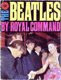 The Royal Command Performance at the Prince of Wales Theatre in London, in the presence of the Queen Mother and Princess Margaret. The Beatles november 4th, 1963 Published by A Daily Mirror (UK) 1963_2S
