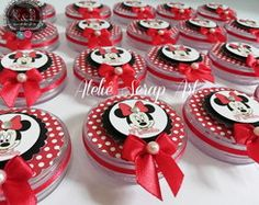 LATINHA MINNIE VERMELHA Mickey Mouse Birthday Theme, Mickey Party, Disney Birthday, Minnie Mouse Party, Mouse Parties, Michey Mouse, Mad Scientist Party, Disney Princess Party, Mickey Mouse And Friends