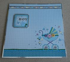 Handmade 7 x 7 Greeting Card  Baby Boy by BavsCrafts on Etsy