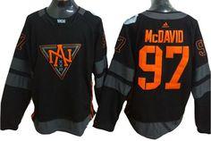Edmonton Oilers Jersey -#97 Connor McDavid Black 2016 World Cup of Hockey