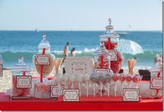 Red and Silver Candy Table, 40th Anniversary, Ruby Anniversary