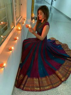 MC 1062 Maroon Blue Silk Embroidered Traditional Occasionally Fashion Party Wear Traditional Long Anarkali Indian Women Festive Wedding Fully Stitched Dress Singles Wholesaler from Surat in Best Price @ INR Kurta Designs, Blouse Designs, Dress Designs, Indian Designer Outfits, Indian Outfits, Designer Dresses, Saree Gown, Sari Dress, Lehenga