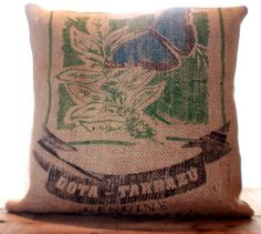 Burlap Butterfly Pillow by CCurate on Etsy