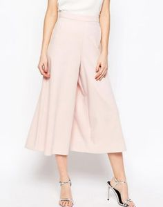 Browse online for the newest ASOS Occasion Wide Leg Culottes styles. Shop easier with ASOS' multiple payments and return options (Ts&Cs apply). Asos, Fashion Editor, New Fashion, Work Looks, Rock, Wide Leg Pants, Casual Pants, Midi Skirt, High Waisted Skirt
