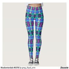 """Kindawierdals KCFX Leggings. These leggings will give you an entirely new exotic, exciting look. Similar to the currently trending """"Ikat"""" style, this design blends abstract art, technology and psychedelia in a completely unique fashion. The origination image is from my Kinetic Collage """"Sweet Dreams"""" series of light show photos. Trippy, yes? Over 3000 products at my Zazzle online store. Open 24/7 World wide! http://www.zazzle.com/greg_lloyd_arts*?rf=238198296477835081"""