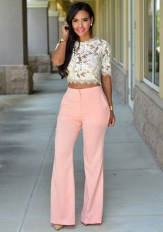 Chic Couture Online - Anika Salmon Flare Pants, $55.00 (http://www.chiccoutureonline.com/anika-salmon-flare-pants/)