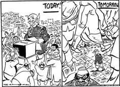 RK Laxman Voter cartoon