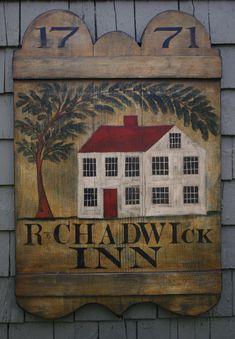 reproduction idea.... Chadwick Inn Tavern Sign