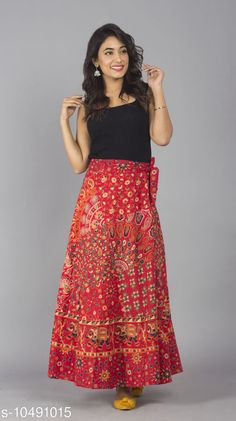 Ethnic Bottomwear - Skirts Jaipuri Print Cotton Red Ethnic Wrap Around Skirt For Women/ Grils Fabric: Cotton Pattern: Printed Multipack: 1 Sizes:  Free Size 26 (Waist Size: 26 in, Length Size: 40 in, Hip Size: 32 in)  28 (Waist Size: 28 in, Length Size: 40 in, Hip Size: 34 in)  30 (Waist Size: 30 in, Length Size: 40 in, Hip Size: 36 in)  32 (Waist Size: 32 in, Length Size: 40 in, Hip Size: 38 in)  34 (Waist Size: 34 in, Length Size: 40 in, Hip Size: 40 in)  36 (Waist Size: 36 in, Length Size: 40 in, Hip Size: 42 in)  38 (Waist Size: 38 in, Length Size: 40 in, Hip Size: 44 in)  40 (Waist Size: 40 in, Length Size: 40 in, Hip Size: 46 in)  42 (Waist Size: 42 in, Length Size: 40 in, Hip Size: 48 in)  44 (Waist Size: 44 in, Length Size: 40 in, Hip Size: 50 in)  46 (Waist Size: 46 in, Length Size: 40 in, Hip Size: 52 in) Sizes Available: Free Size, 26, 28, 30, 32, 34, 36, 38, 40, 42, 44, 46 *Proof of Safe Delivery! Click to know on Safety Standards of Delivery Partners- https://ltl.sh/y_nZrAV3  Catalog Rating: ★4.2 (1504)  Catalog Name: Myra Ensemble Women Ethnic Skirts CatalogID_1914881 C74-SC1013 Code: 082-10491015-