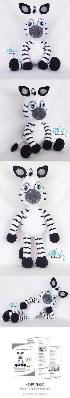 Happy Zebra Amigurumi Pattern