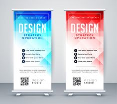 Abstract style business roll up banner template Free Vector Business Card Psd, Business Flyer Templates, Brochure Template, Business Brochure, Banner Vector, Banner Template, Flyer Inspiration, Overlays, Prospectus