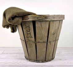 f6ee8f535 Rustic Bushel Basket via havenvintage...hello apples in the mud room for  back