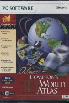 Compton's 3D World Atlas Deluxe CD-ROM