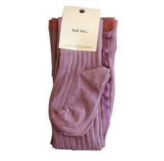 sue hill baby girls ribbed tights soft plum