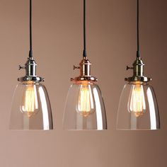 VINTAGE INDUSTRIAL CAFE GLASS BRASS CHROME PENDANT LAMP SHADE LIGHT FIXTURE фото