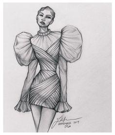 Fashion Drawing Tutorial, Fashion Figure Drawing, Fashion Drawing Dresses, Fashion Illustration Dresses, Fashion Illustrations, Illustrations Posters, Drawing Fashion, Drawings Of Dresses, Fashion Dresses