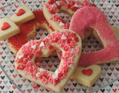 No Fail Valentine Sugar Cookies Ingredients 6 cups flour 1 tsp. baking powder 2 cups unsalted butter 2 cups sugar (white granulated) 2 eggs 2 tsp. vanilla extract or desired flavoring (I like almon…