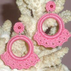 Crochet Jewelry Patterns, Crochet Earrings Pattern, Crochet Vest Pattern, Crochet Bracelet, Wire Crochet, Easy Crochet, Crochet Hooks, Beaded Flowers, Crochet Flowers