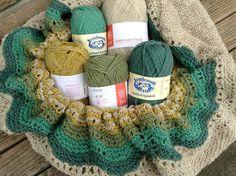 2 Ply Shetland + hap shawl in progress