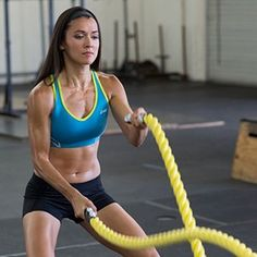 Love Battle Ropes at the Gym? Try a Lighter-Weight Lightning Rope at Home