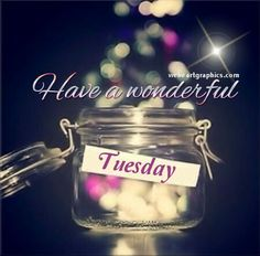 Have a wonderful Tuesday