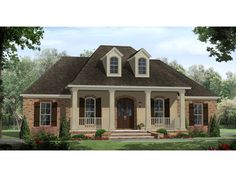 This Acadian style is loaded with curb appeal! Lohmann European Home from houseplansandmore.com