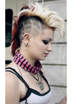 a punk in zg, punk girl #punk #fashion #mohawks