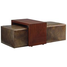 Lexington Take Five Broadway Leather Cocktail Ottoman with Slide