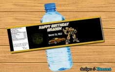 Transformers Matching Party Favors  Custom You by designsanddecors, $15.00