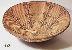 PIMA Pictoral Bowl. Native American Indian Basket