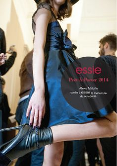 Behind the scenes at Paris! #essie #ParisFashionWeek