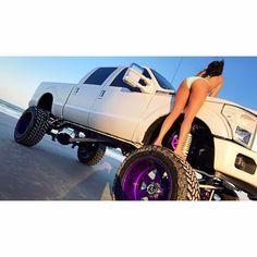 These Girls Love Diesel Trucks. Diesel Trucks, Custom Trucks, Lifted Trucks, Cool Trucks, Chevy Trucks, Pickup Trucks, Trucks And Girls, Car Girls, Bus Girl