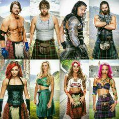 Dean Ambrose, AJ Styles, Roman Reigns, Seth Rollins, Becky Lynch, Charlotte, Nikki Bella, Sasha Banks