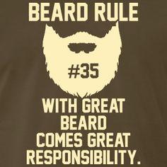 Beard Rules T-Shirts - Men's Premium T-Shirt