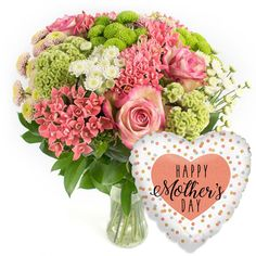 MOTHER'S DAY DELIGHT #MothersDay #gifts #pink #bouquet #balloon #giftset #HappyMothersDay #iloveyou #mom #mothersday2018