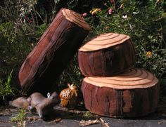 Log pillows for camping themed reading corner