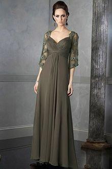 Empire-Linie Herz-Ausschnitt Bodenlang Chiffon Brautmutterkleider