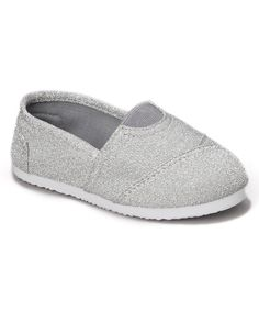 Rockland Footwear Silver Glitter Cutie Slip-on Sneaker by Rockland Footwear #zulily #zulilyfinds